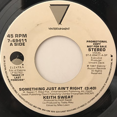 KEITH SWEAT:SOMETHING JUST AIN'T RIGHT(LABEL SIDE-B)