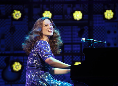 "Carnegie Hall. Sarah Bockel (""Carole King""). From Why You Should See Beautiful–The Carole King Musical. Photo courtesy and copyright by Joan Marcus, used with permission"