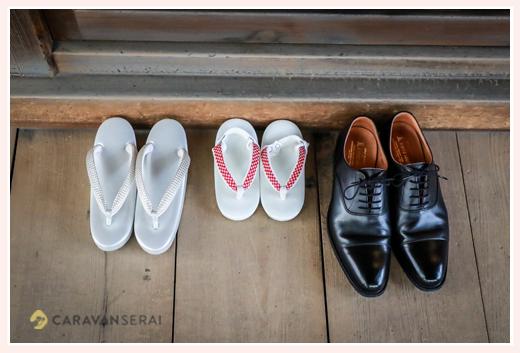七五三 親子三人の履物 草履と靴
