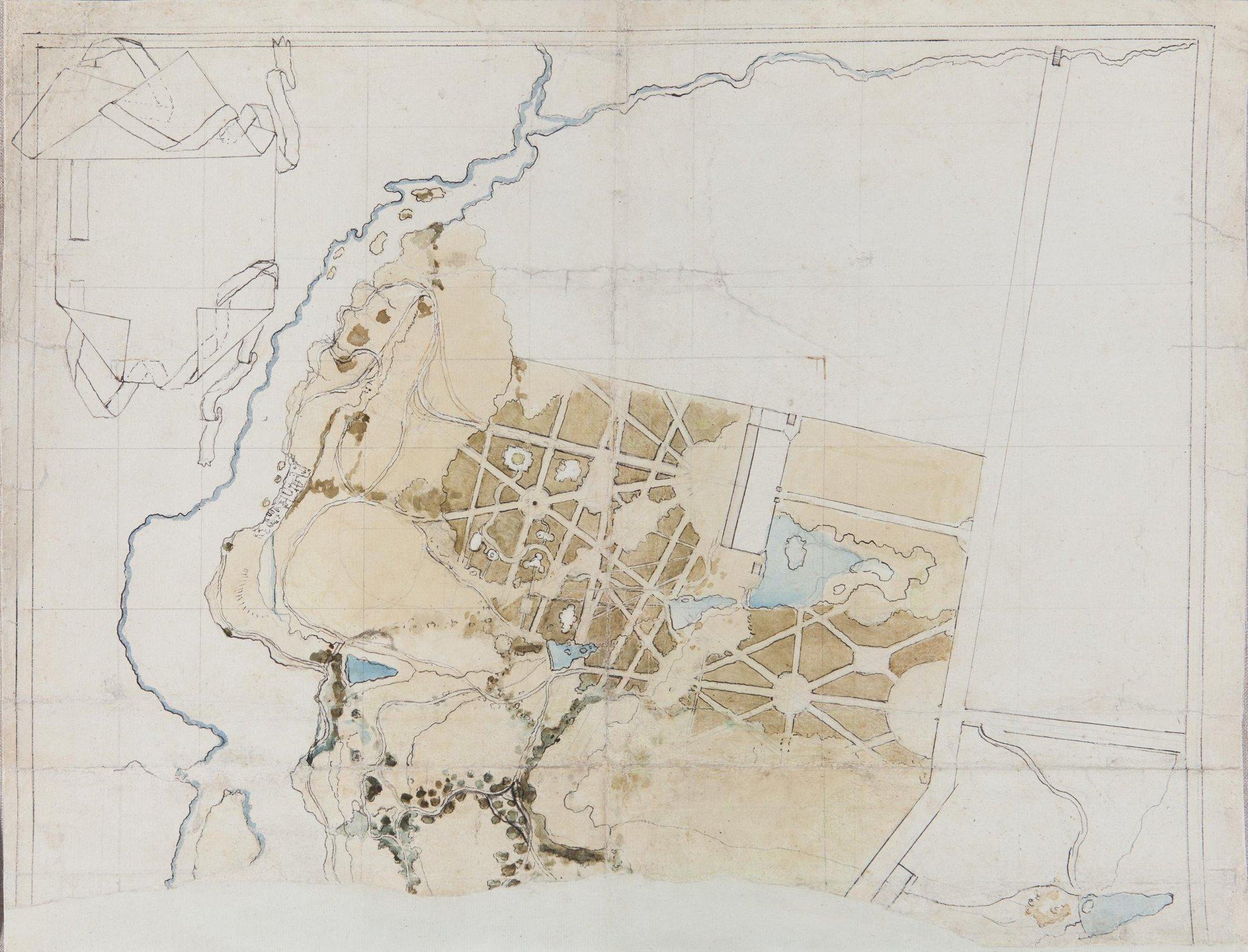 План Богородицкого парка. Правая половина