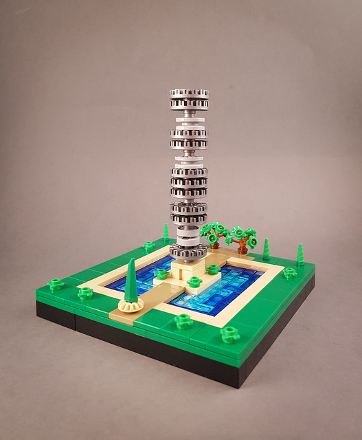 Hub Cap Tower (I). MOC created for New Elementary blog.