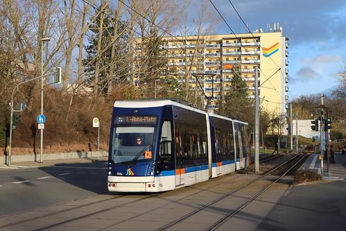 Jena - Tram 705 Solaris Tramino - Erlanger Allee
