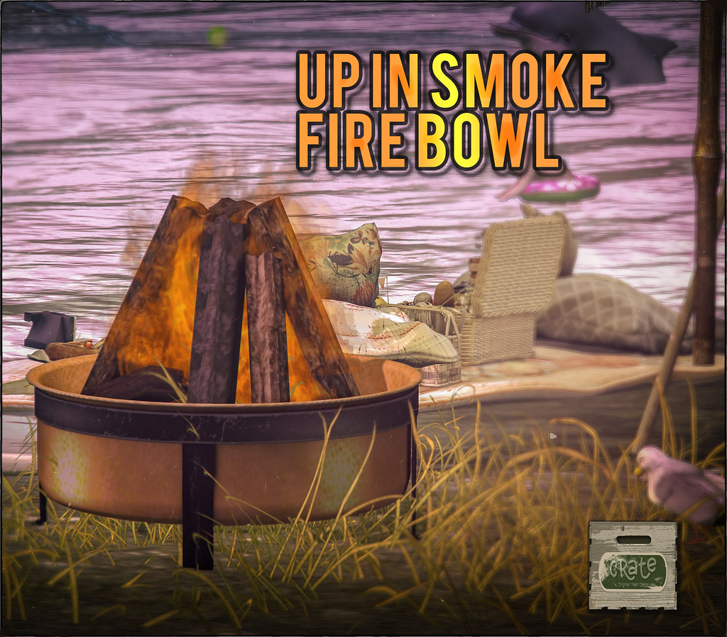 crate Up In Smoke Fire Bowl New Group Gift!