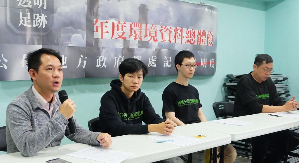 環保團體綠色公民行動聯盟召開記者會說明各縣市列管污染源裁處資料不透明的情況。攝影:陳文姿