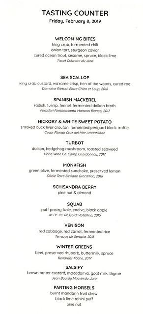 tasting counter menu 1