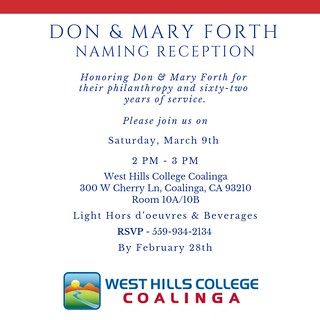 WHCCD Honors Don & Mary Forth