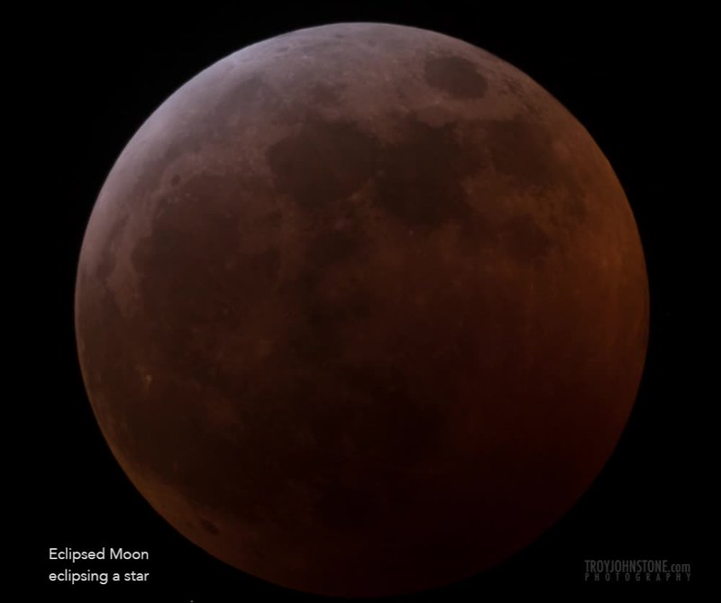 Eclipsed Moon Eclipsing a Star