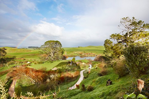 Hobbiton, Waikato. Photo: Sara Orme, Tourism New Zealand. From Visiting the Shire: Middle Earth Locations in New Zealand
