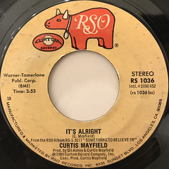 CURTIS MAYFIELD:LOVE ME, LOVE ME NOW(LABEL SIDE-B)