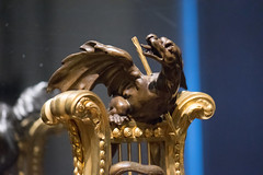 Dragon on antique chair