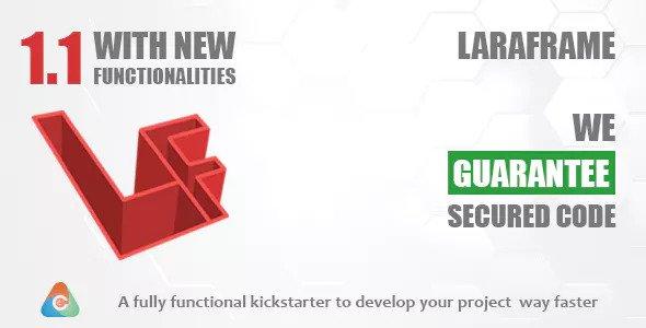 Laraframe v1.1 - Laravel Kickstarter