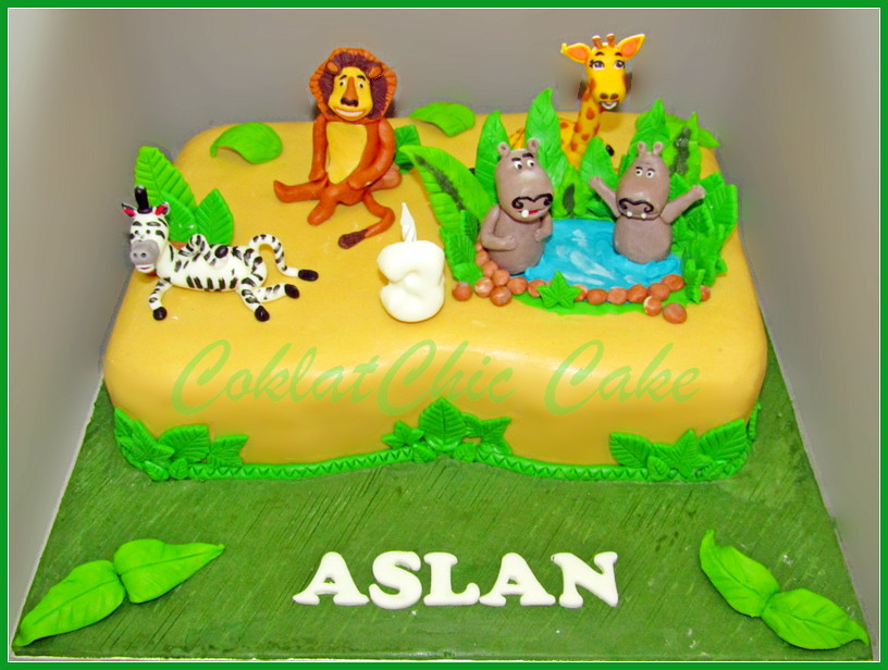 Cake Madagascar ASLAN 20x30 cm