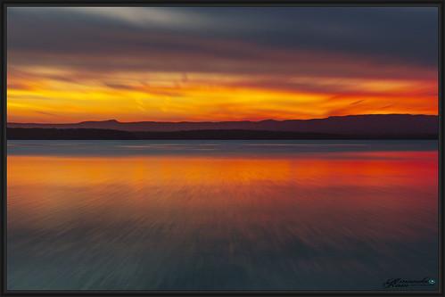 Artistic minimal Sunset