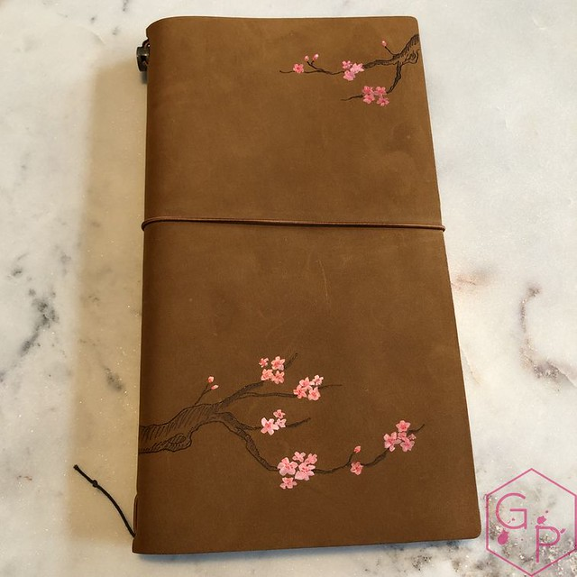 Toronto Pen Company Traveler's Notebook Leather Covers with Pyrography & Paintings 18