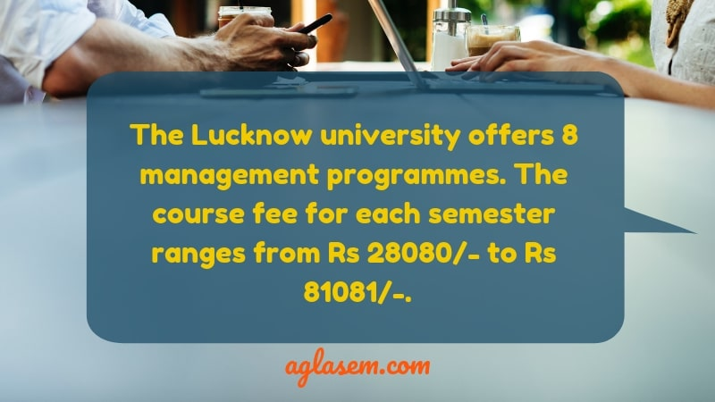 Lucknow University for PG Management MBA course and fee