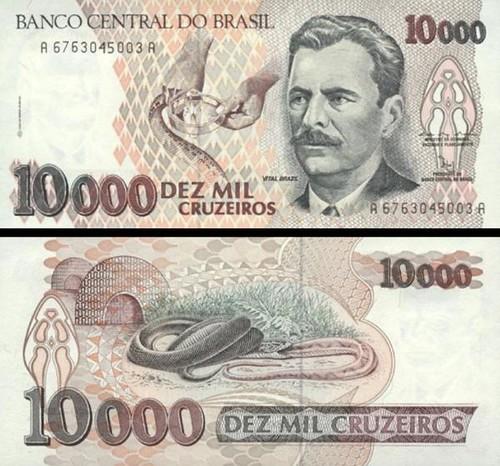 10 000 cruzeiros Brazília 1992, P233c