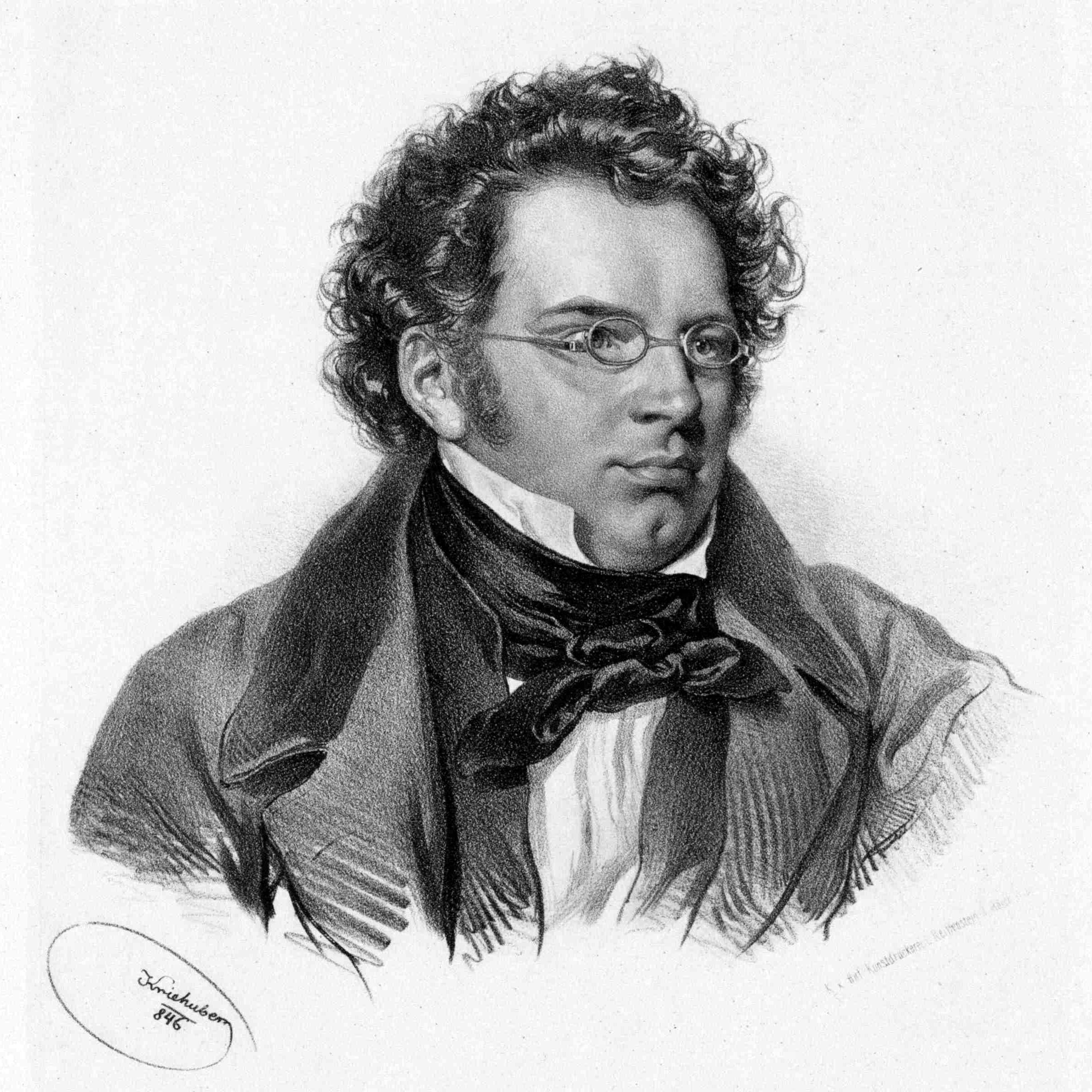 Franz Schubert by Josef Kriehuber (1846)