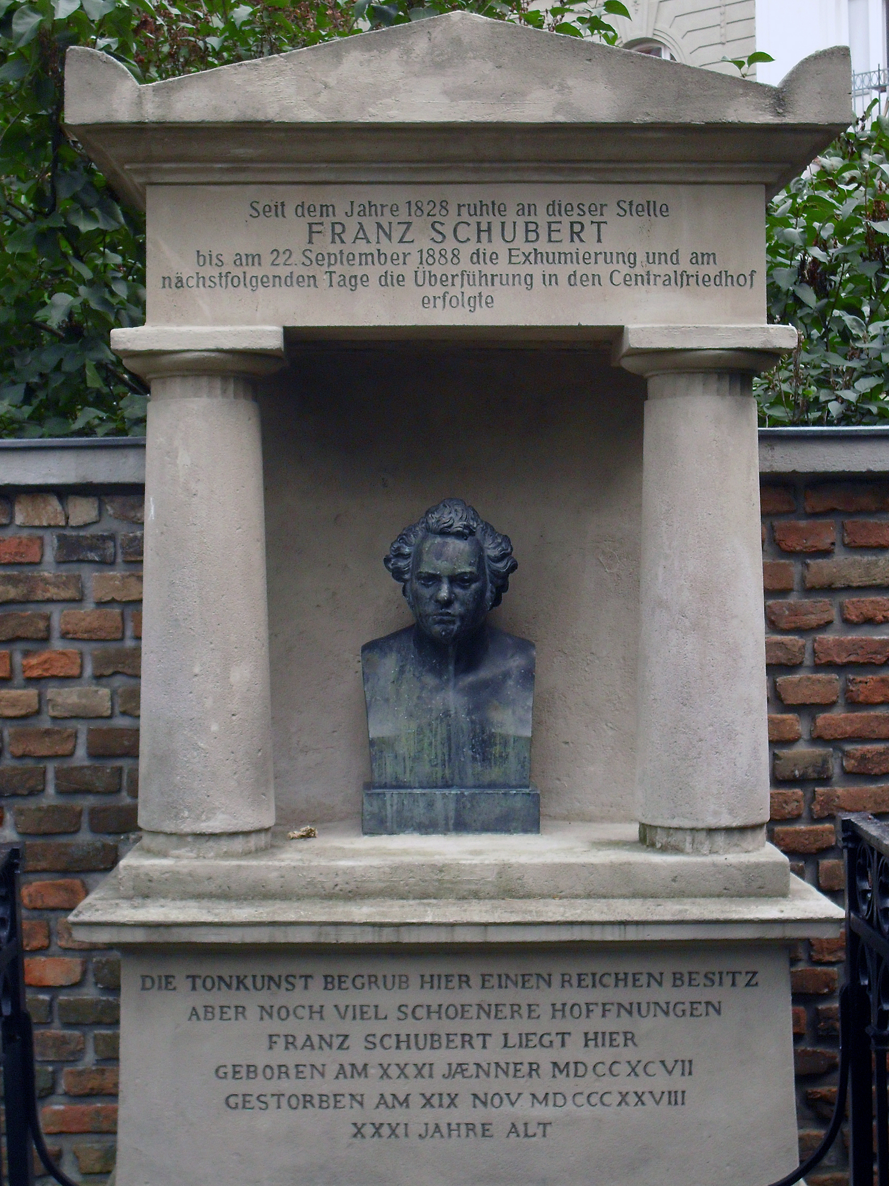 The site of Schubert's first tomb at Währing, Vienna. Photo taken on August 15, 2010.