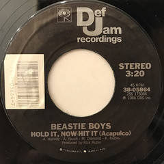 BEASTIE BOYS:HOLD IT, NOW HIT IT(LABEL SIDE-B)