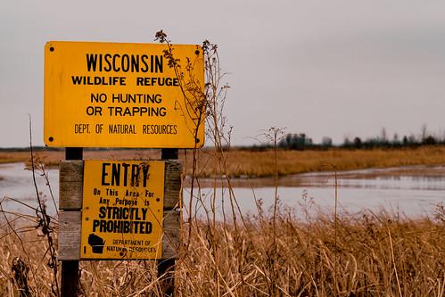 Crex Meadows Wildlife Refuge Signs, Wisconsin