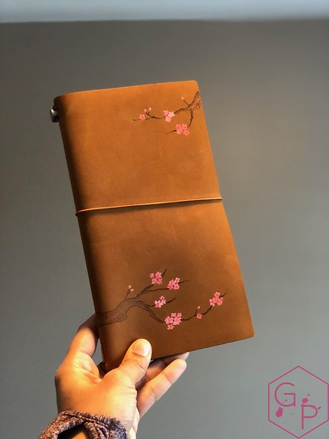 Toronto Pen Company Traveler's Notebook Leather Covers with Pyrography & Paintings 39