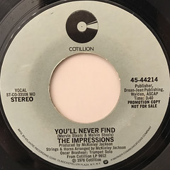 THE IMPRESSIONS:YOU'LL NEVER FIND(LABEL SIDE-A)