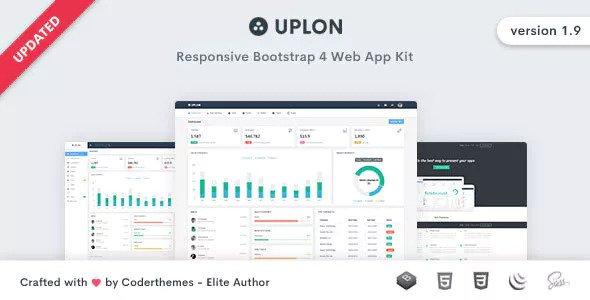 Uplon v1.9 - Responsive Bootstrap 4 Web App Kit