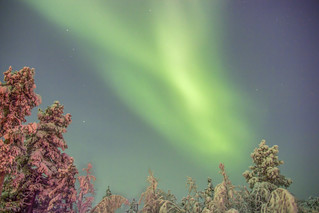 Northern Lights, viewed from Inari, Northern Finland. | by Phil_Davies