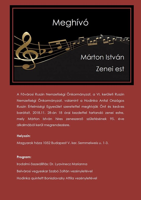 Márton István zenei est