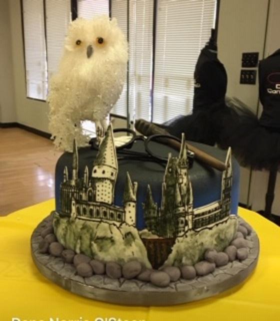 Hogwarts Castle Hand Drawn on Fondant by Dana Osteen