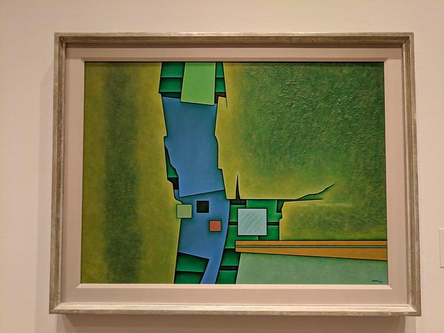 Ochre-Green-Blue by Gunther Gerzso