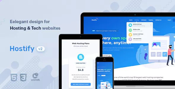 Hostify - Hosting HTML & WHMCS Template