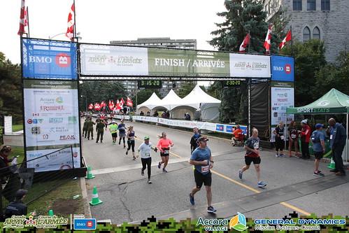 Army Run Linda at the finish