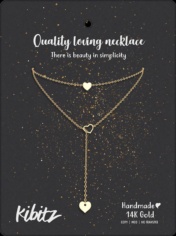 kibitz Quality loving necklace