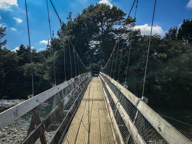 Rope bridge in Turangi