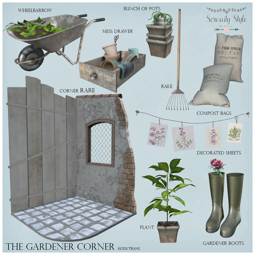 Serenity Style- The Gardener Corner Key