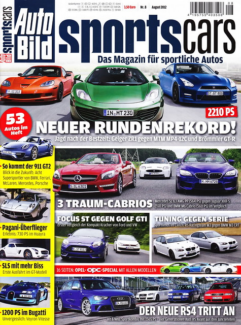 Auto Bild Sportscars 8/2012
