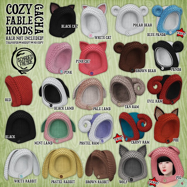 cozy fable hoods