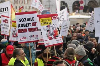 Protestmarsch der Beschäftigten im privaten Sozial- und Gesundheitsbereich
