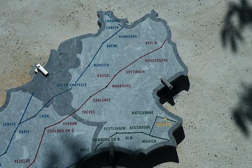 20090530 114 1109 Jakobus Arthez de Bearn Pilgerweg Karte
