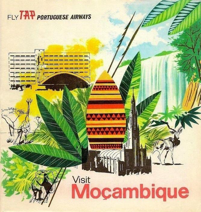 Voe TAP— Transportes Aéreos Portugueses, «Visite Moçambique», c. 1970