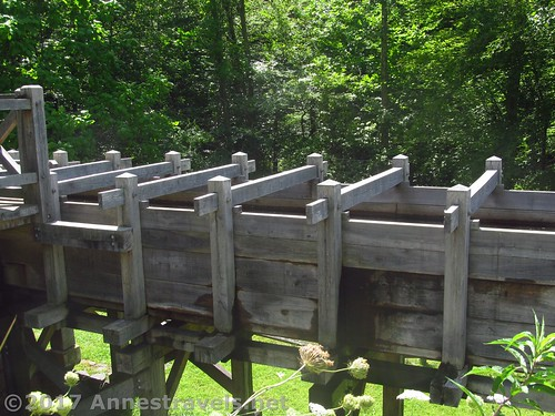 Sluice to carry water to the waterwheel at the Cooper Mill in Chester, New Jersey