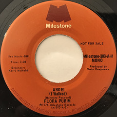 FLORA PURIM:ANDEI(I WALKED)(LABEL SIDE-A)