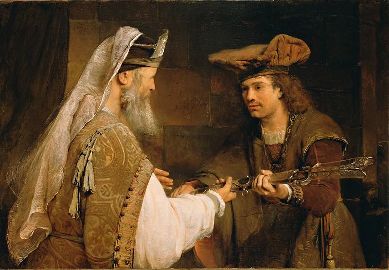 Aert de Gelder - Ahimelech Giving the Sword of Goliath to David (c.1680)