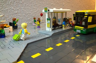 LEGO Bus stop and fountain Diorama MILS | by marc-entrega