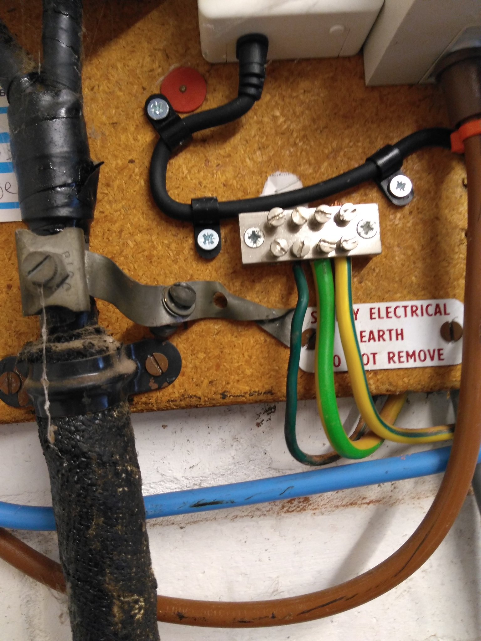 fuse box in garage earthing a house  earthing a house