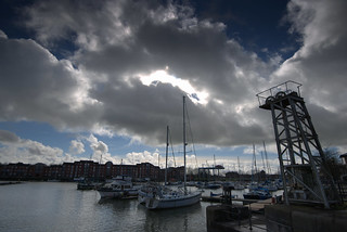 Storm clouds over Preston Marina | by Tony Worrall