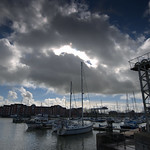 Storm clouds over Preston Marina