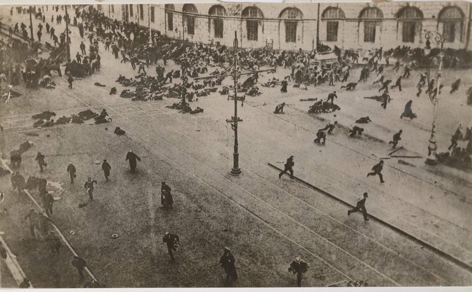 1917. Расстрел июльской демонстрации
