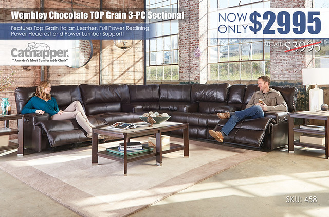 Wembley Chocolate Sectional_Catnapper_458